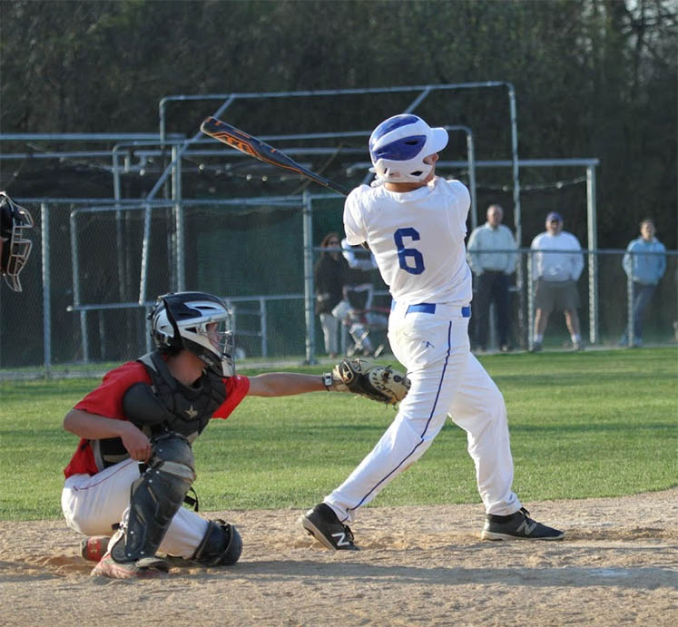 Andrew Gough singles in first inning.