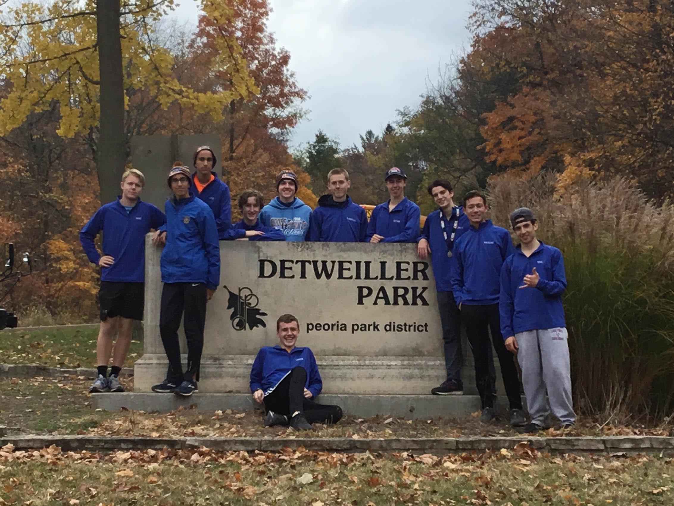 Boysi Cross Country Team at Detweiller Park.