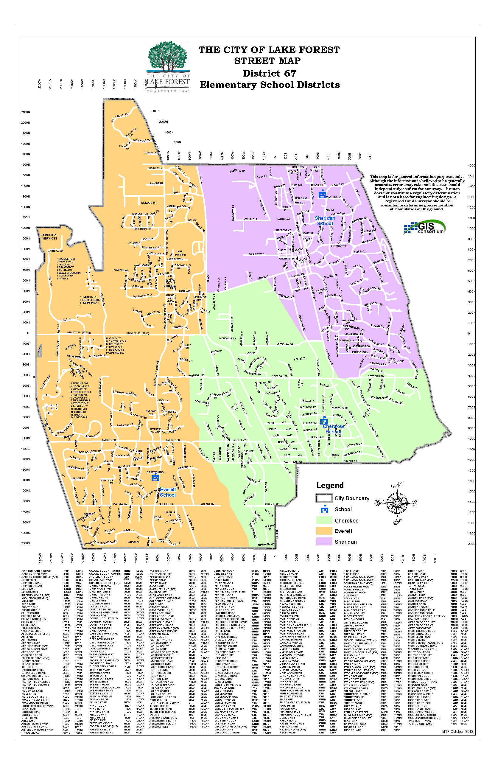 Boundary Map for Lake Forest School District 67