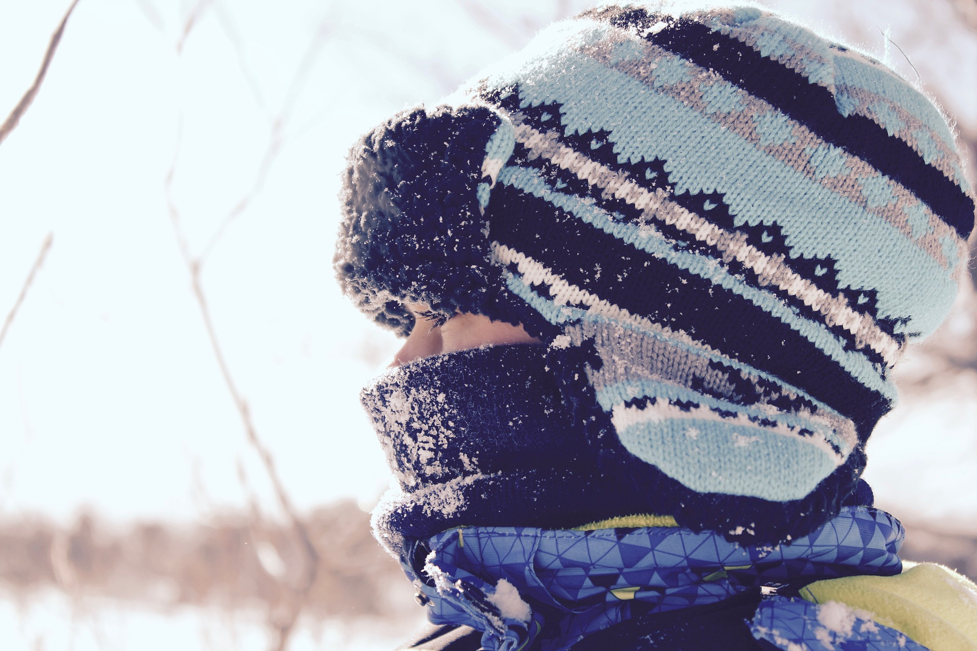 Child dressed for cold weather